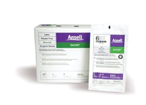 ansell encore sterile powder free ansell 5785007 cs 5785007 gloves size 9 50 pr bx 4 bx