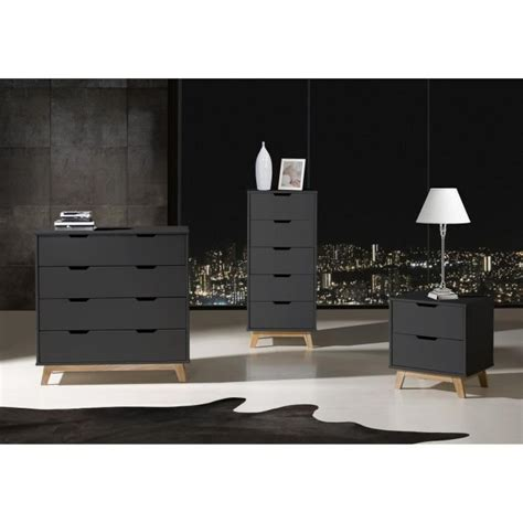 commode gris anthracite alina commode 4 tiroirs gris anthracite ch 234 ne achat