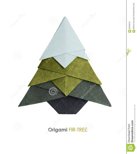 Origami Fir Tree - origami fir tree stock illustration image 62595675