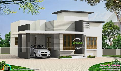 Small Budget Flat Roof House Kerala Home Design Floor Small House Plans Kerala