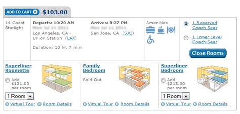 Cost Of Amtrak Sleeper Car by Amtrak Coast Starlight Booking Ticket Travel Codex