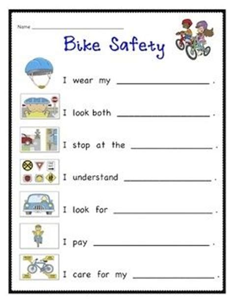 use this printable to teach your about bicycle
