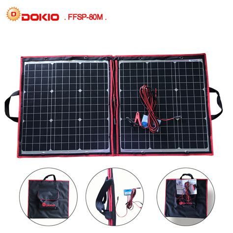 Foldable Solar With 2 Solar Panel Black dokio 50w 60w 70w 80w 40x2pcs 18v black solar panels china foldable 12 24v volt