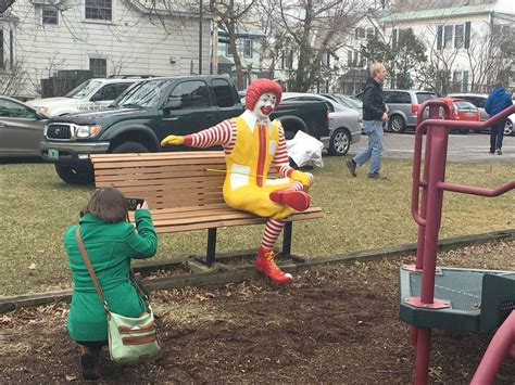ronald mcdonald house burlington vt replacement arrives for decapitated ronald mcdonald statue ncpr news