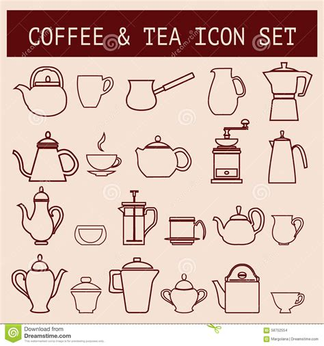 Tea Time And Coffee Time coffee and tea time stock vector image 58752554