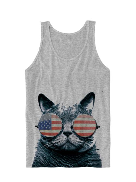 usa kitten tank top american flag cat wearing glasses i kittens great gifts july 4th shirts