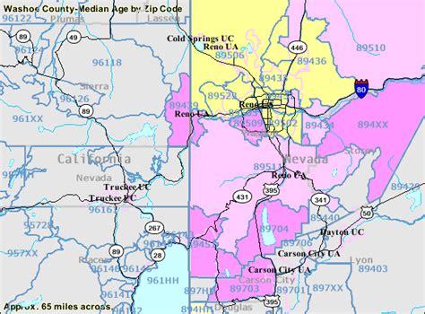 zip code map reno washoe county map