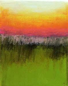color field painting abstract landscape color field painting with green by