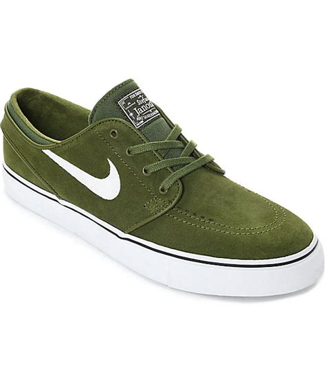 Nike Sb Abu Suede nike skate shoes green for sale nike shoes
