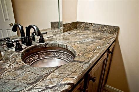 rainforest brown granite bathroom vanity traditional