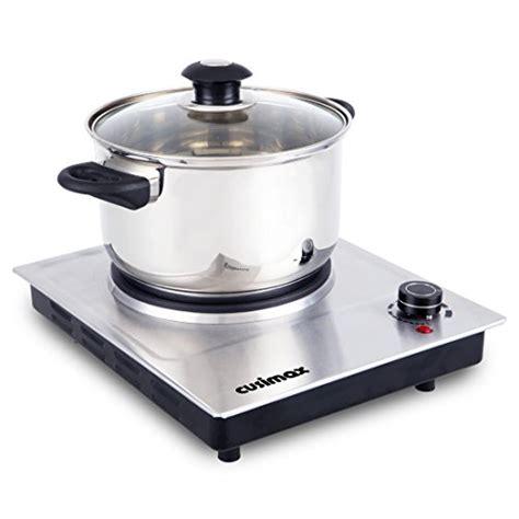 cusimax 1500w single countertop burner stainless steel