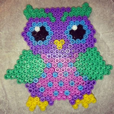owl pony bead pattern 122 best images about perler bead on perler