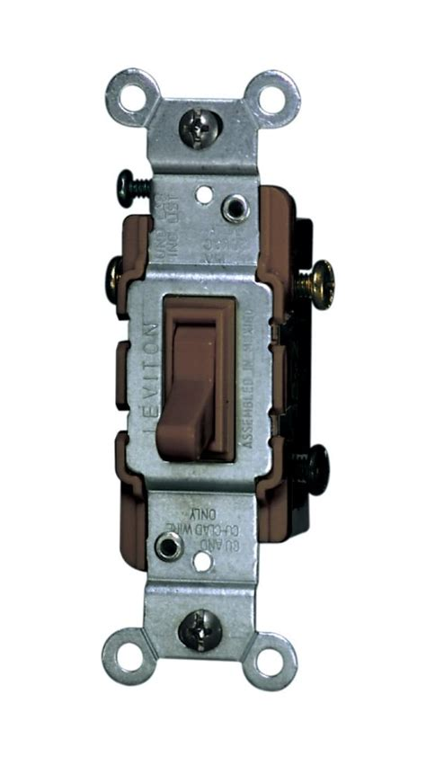 Toggle Switch 3way leviton 3 way toggle switch brown the home depot canada