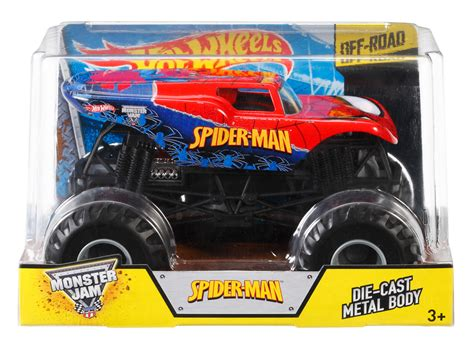 hotwheels monster jam wheels 174 monster jam 174 spider man vehicle shop