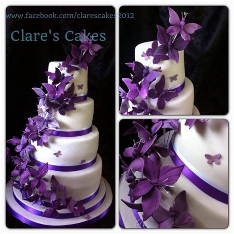 Cadbury Purple Get It Before They Sue You by Cadburys Purple Butterfly Wedding Cake Cakecentral