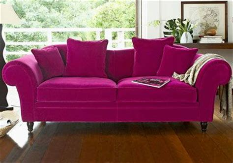 canap駸 camif canap 233 3 places velours fuchsia camif canape