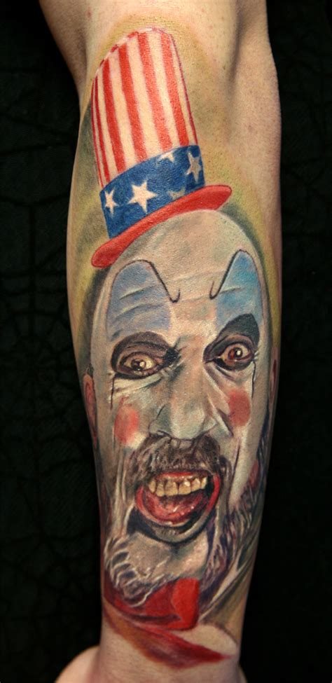 captain spaulding tattoo captain spaulding tattoos