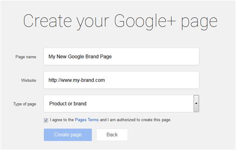 design google plus page how to create google plus brand page