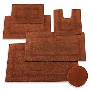 Wamsutta Reversible Bath Rug Buy Wamsutta 174 Reversible Contour Bath Rug In Brick From Bed Bath Beyond