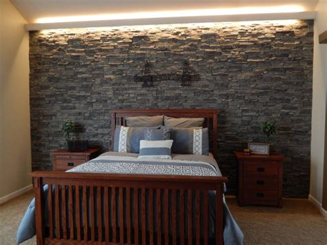 stone accent wall bedroom splendid stone textured accent walls creative faux panels