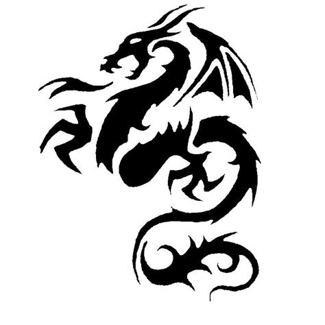 tribal dragon tattoos meaning tribal