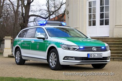 Vw Passat Variant Kofferraum Maße by Polizeiautos De Vw Passat B8 Variant