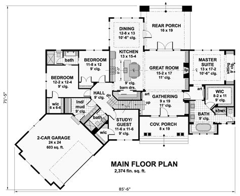 Craftsman House Plan With 4 Bedrooms And 3 5 Baths Plan 9717 Dfd House Plans