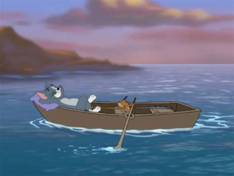 tom and jerry boats image octo suave jerry rowing the boat close up png
