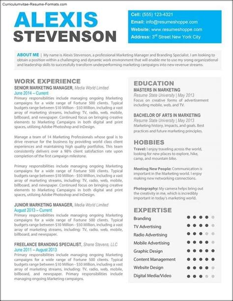 interesting resume formats creative professional resume templates free sles
