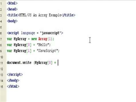 javascript tutorial easy html javascript how to create a simple array