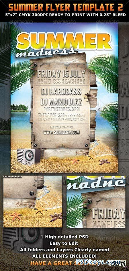 Summer Madness Party Flyer Template 309504 187 Free Download Photoshop Vector Stock Image Via Flyer Template Rar
