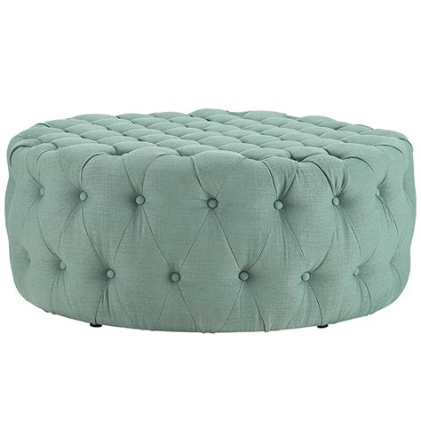 round tufted fabric ottoman large round coffee table cocktail ottoman button tufted 14