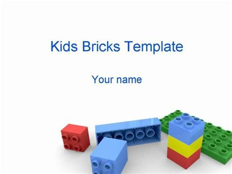 Kids Building Bricks Powerpoint Template Lego Powerpoint Template