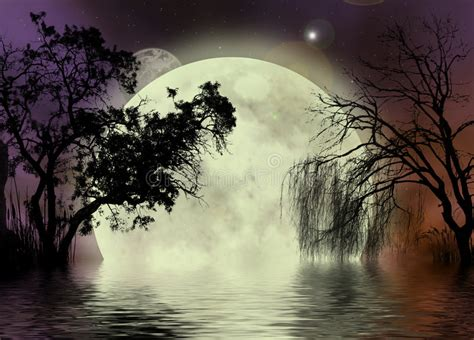 moon fairy background royalty  stock photo image