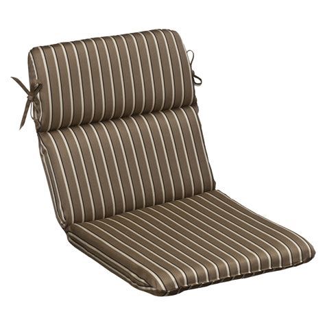 striped patio cushions brown beige striped sunbrella outdoor cushion collection