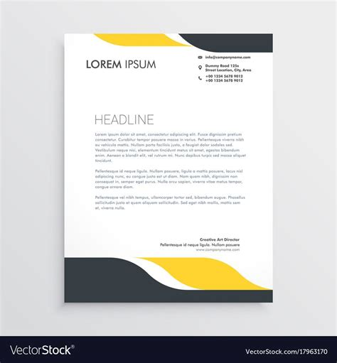 creative letterhead design template vector image