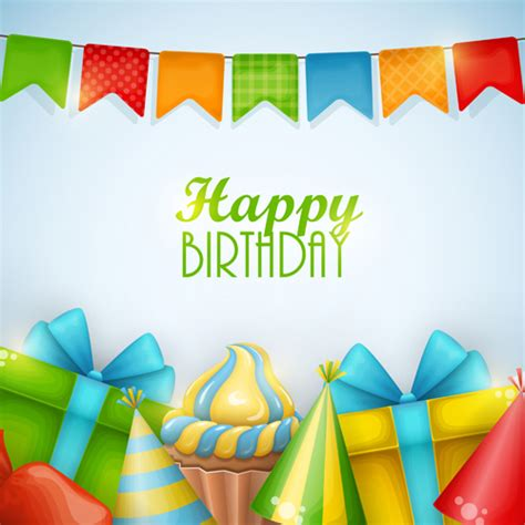 birthday layout vector gift with sweet birthday background vector vector