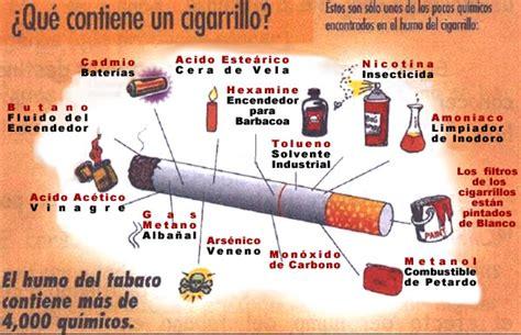 que sustancias tiene el cigarro y sus efectos perjudiciales tabaquismo epdn