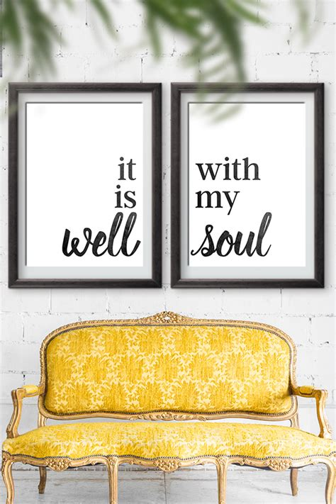 Home Decor Images Free | it is well with my soul home decor sign free printable
