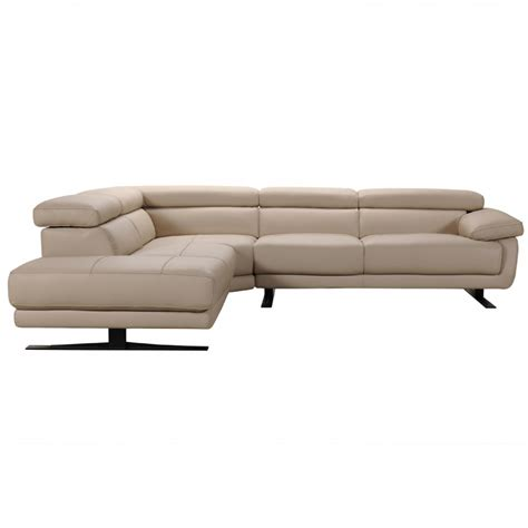 Taupe Sectional by Divani Casa Gypsum Modern Taupe Leather Sectional Sofa
