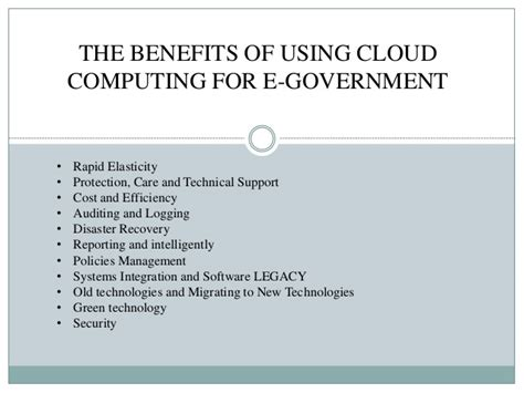 St Cloud State Mba Requirements by Future Of E Governance With Cloud Computing