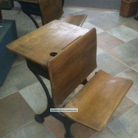 vintage desk 1900 1950 unknown silent giant antique oak student desk with cast