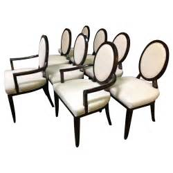 oval back dining room chairs set of eight barbara barry for baker oval x back dining