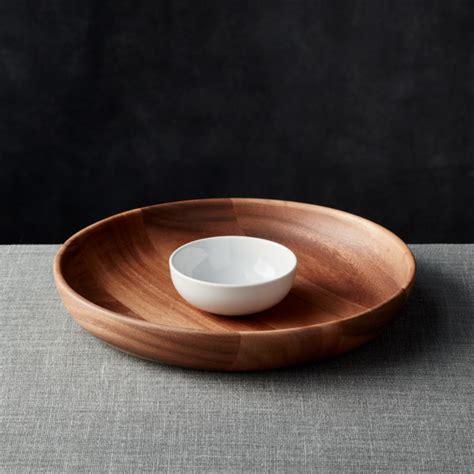 tondo wooden chip  dip bowl reviews crate  barrel