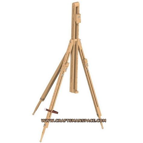 easel woodworking plans wood tripod plans free complete plan folding