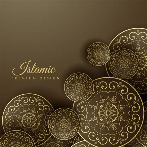 islamic pattern psd islamic background with mandala decoration vector free