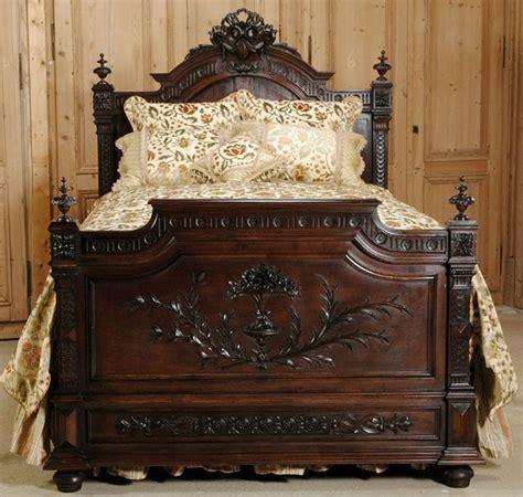 antique bed frames make a great bedroom centerpiece