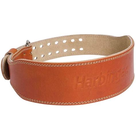 harbinger 4 quot classic leather weight lifting belt