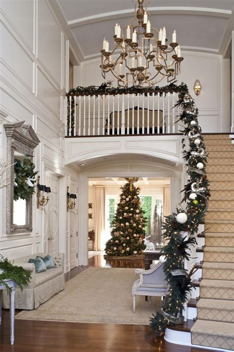 best banister garlands for christmas 50 stunning staircase decorating ideas style estate