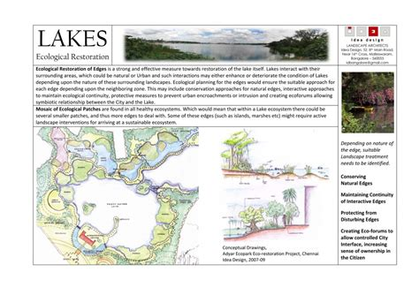 Landscape Architecture Ecological Restoration 187 Microsoft Word Lakes Ecological Restoration 01jul09